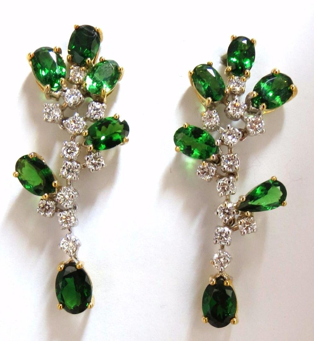 8.77ct natural vivid green tsavorite diamond dangle