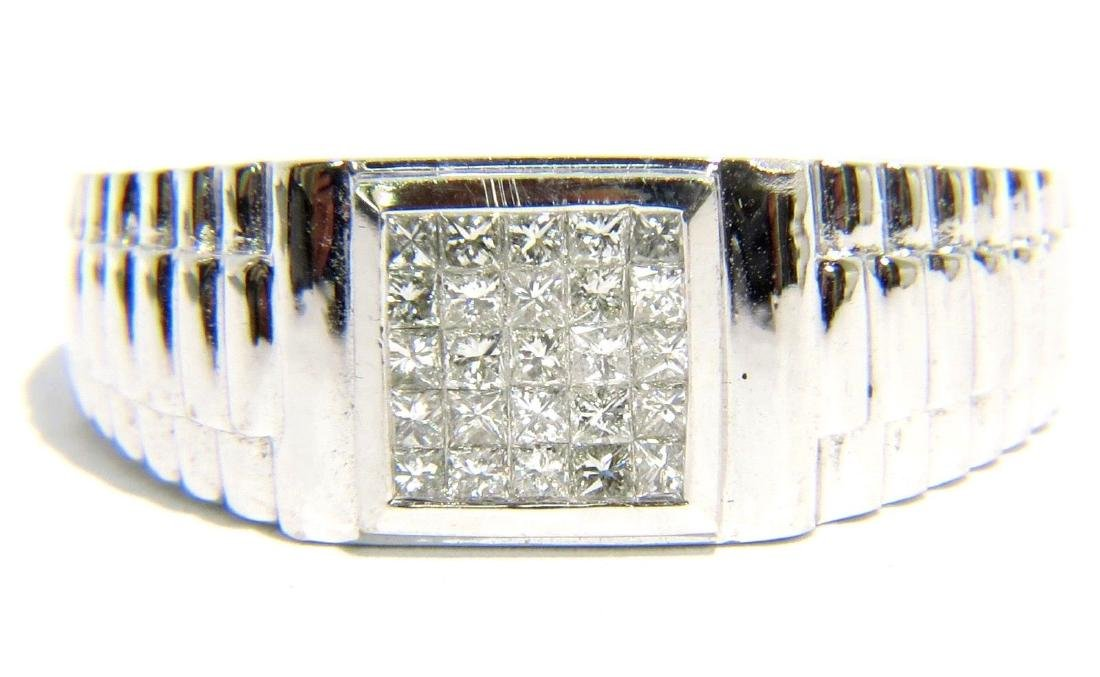 18KT WHITE GOLD NATURAL 0.50CT DIAMOND MODERN DESIGN