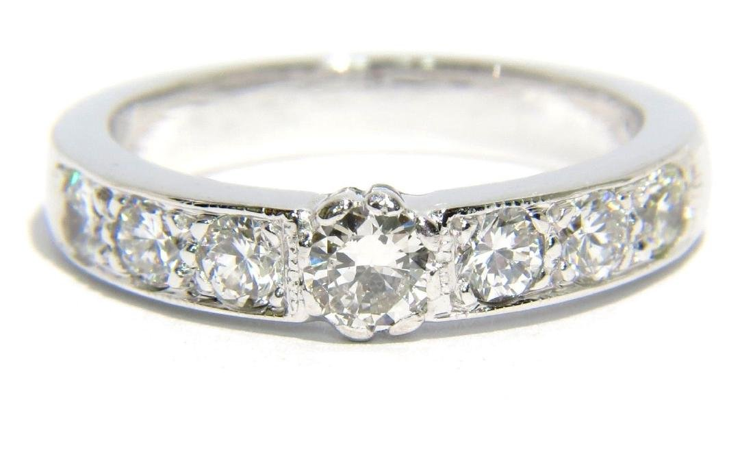 14KT WHITE GOLD NATURAL 1.14CT DIAMOND MODERN DESIGN
