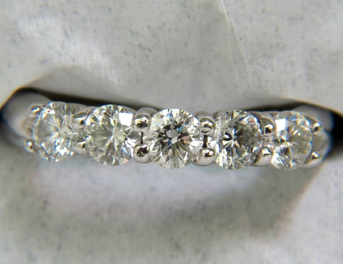 NATURAL 1CT DIAMOND BAND RING H VS2 14KT CLASSIC