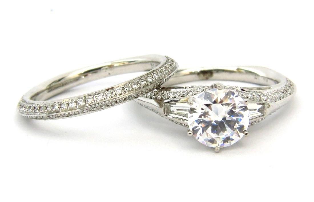18KT WHITE GOLD DIAMOND 2.00CT MOUNTING 0.95CT DIAMONDS