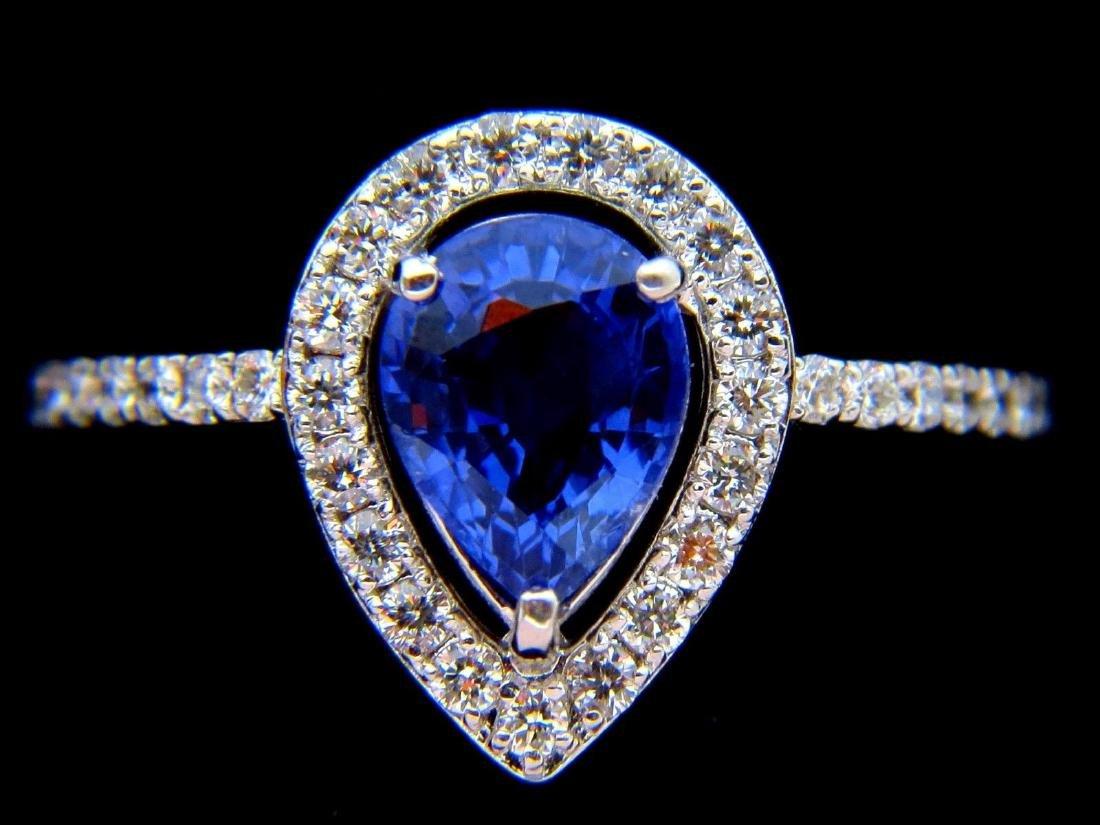 NATURAL 1.98ct SAPPHIRE DIAMOND RING 14KT VS2