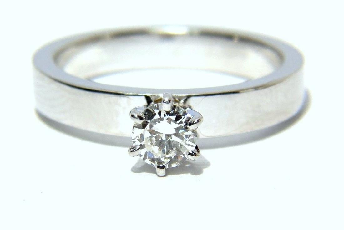 NATURAL 0.38ct ROUND DIAMOND RING 14KT VS-1 LADIES