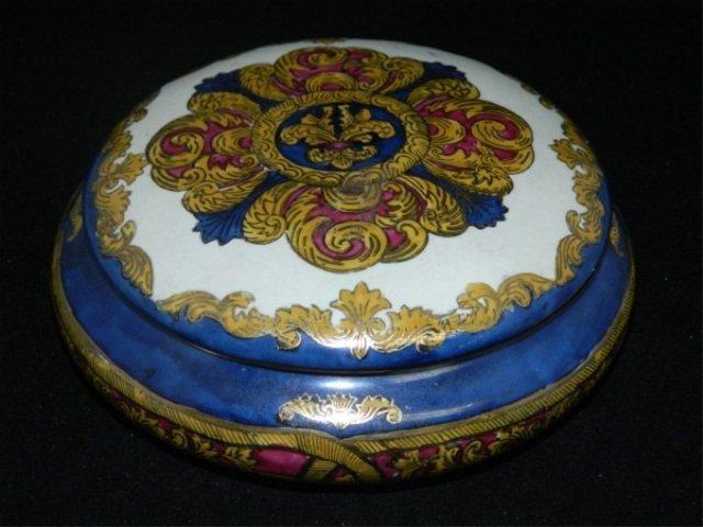 14: Porcelain Lidded Dresser Container