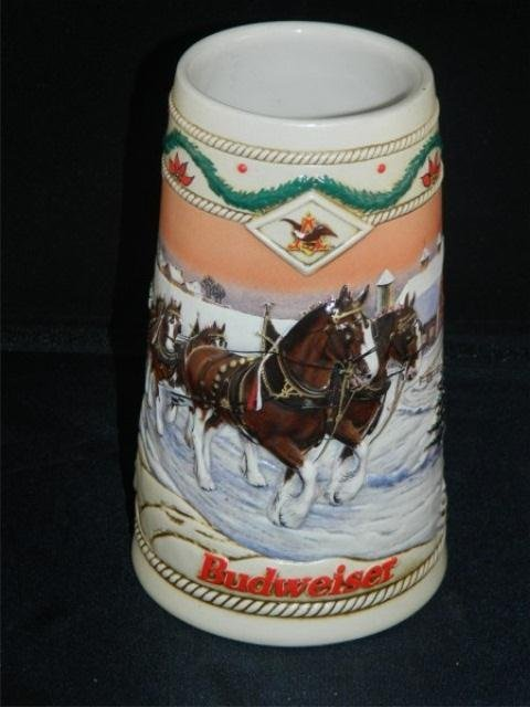50: Lot of 3 Collectible Budweiser Holiday Steins - 2