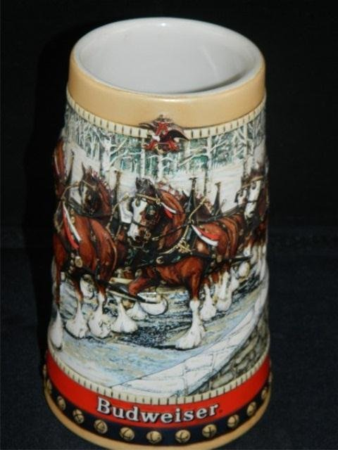 50: Lot of 3 Collectible Budweiser Holiday Steins - 3
