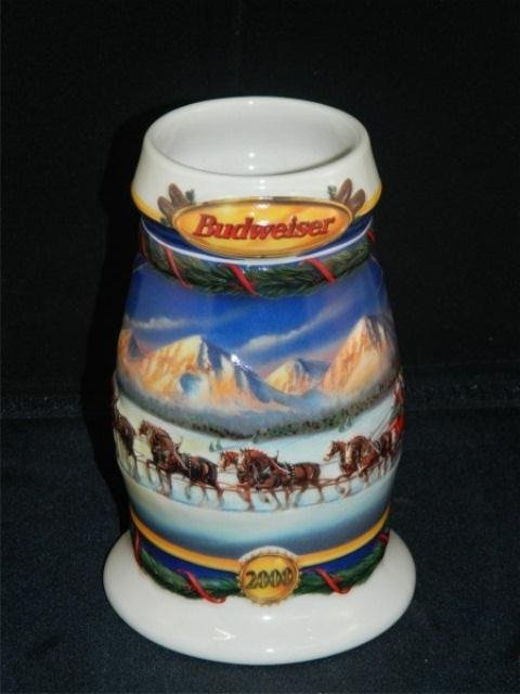 50: Lot of 3 Collectible Budweiser Holiday Steins - 4