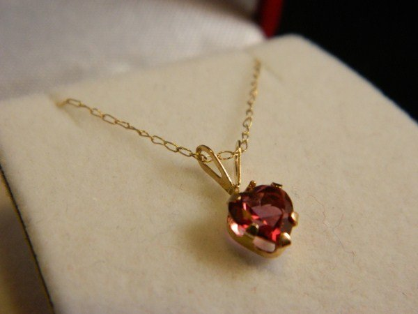 24: Mystic Rose Heart Topaz Necklace - 10K Gold