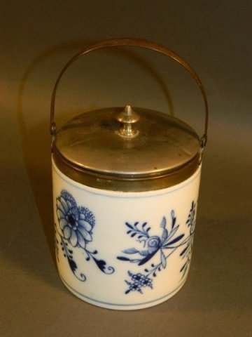 Meissen (England) Blue Onion  Biscuit Jar