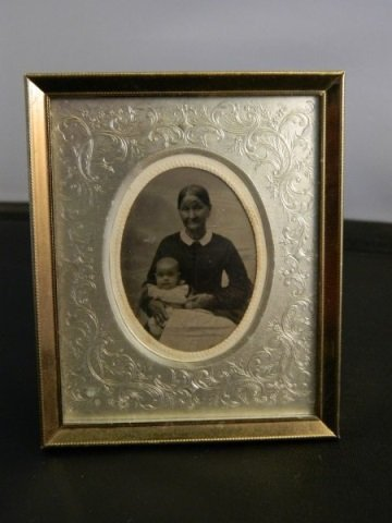 Tin Type Photo - Mother & Child in Frame
