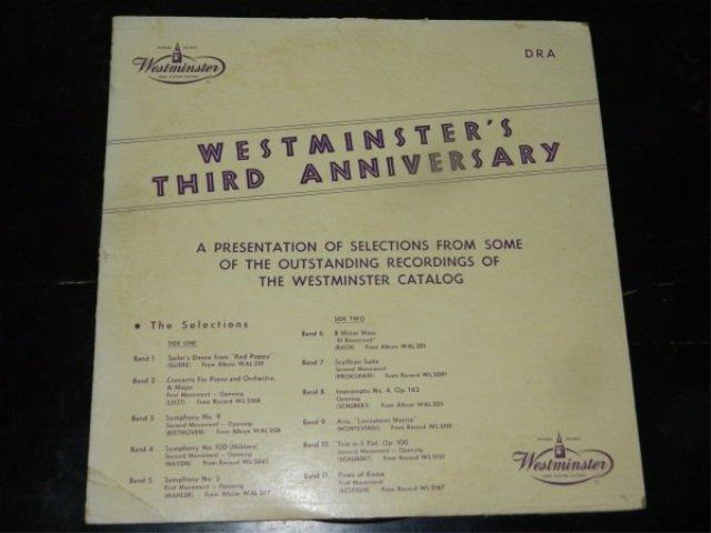 Westminster's Third Anniversary  LP
