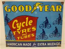 Porcelain Goodyear Cycle Tyres tubes sign
