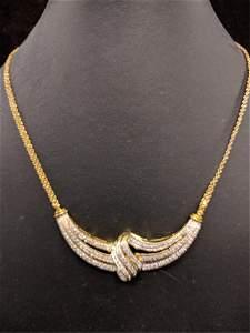 Large Genuine diamond estate necklace