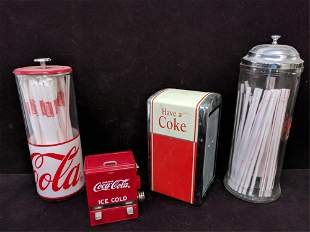 4 piece Coca Cola assorted holders