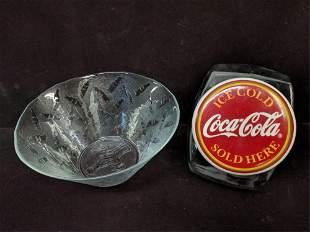 Coca Cola Cookie jar and bowl