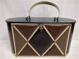 Black mid century modern Goldstrom purse