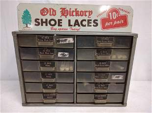 Old Hickery Shoe Lace display cabinet