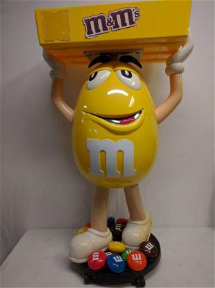 Plastic M Ms candy store display