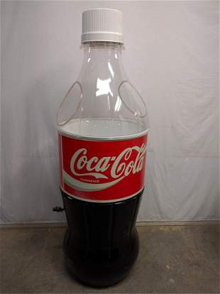large plastic Coca Cola Store display bottle