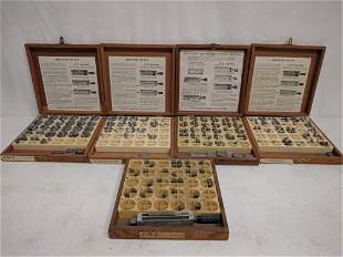 5 type trays with letters