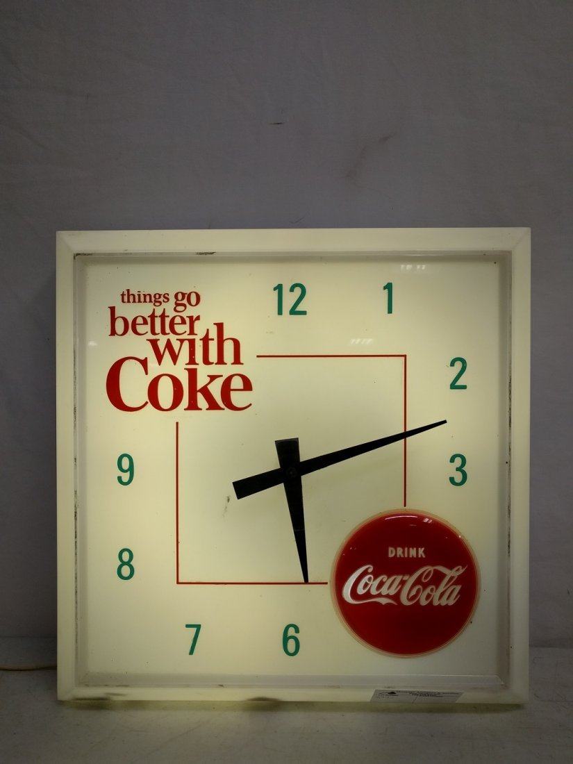 Vintage Things Go Better with Coke Clock