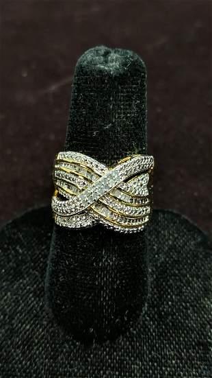large diamond estate ring