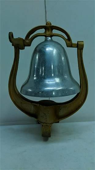 Chrome Dinner bell with aluminum bracket