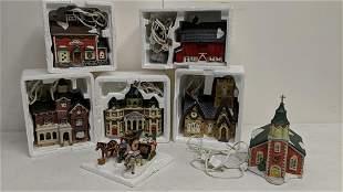 7 piece Dickens Keepsake houses in boxes