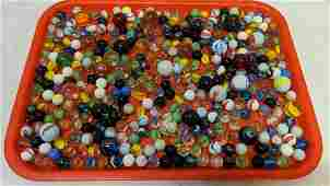Half Gallon Ball Jar of marbles