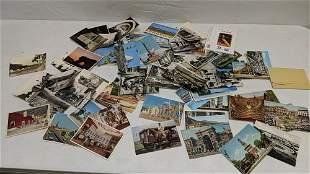 93 Assorted vintage world wide postcards