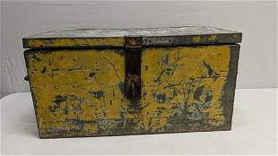 antique metal tool box