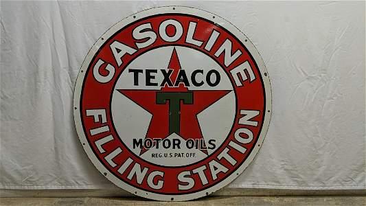 Texaco Gasoline Filling Station Porcelain Sign