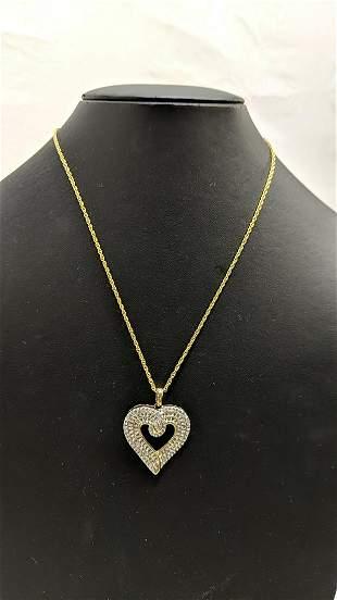 2 Ct. diamond heart necklace