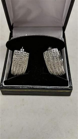 2 Ct. diamond hoop earrings