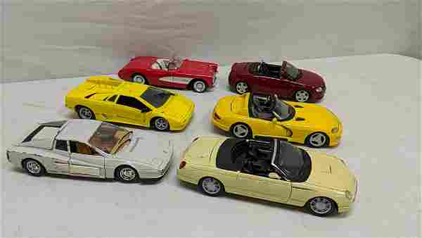 6 collector 1:24 scale cars
