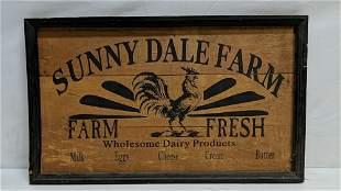 Wood Sunnydale Farms Sign