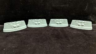 4 Dresden candle holders