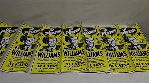 7 Hank Williams Sr. Concert posters pin on
