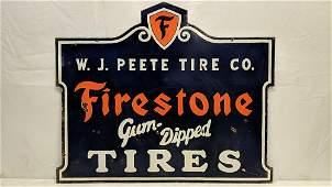 Porcelain Firestone Tires Sign Dealership