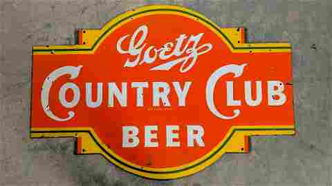 Goetz Country Club Beer Porcelain sign
