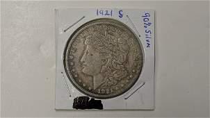 1921 S Morgan silver dollar