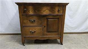 Antique Oak washstand serpentine front