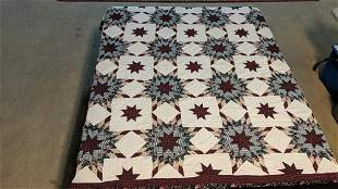Hand Quilted Star design quilt