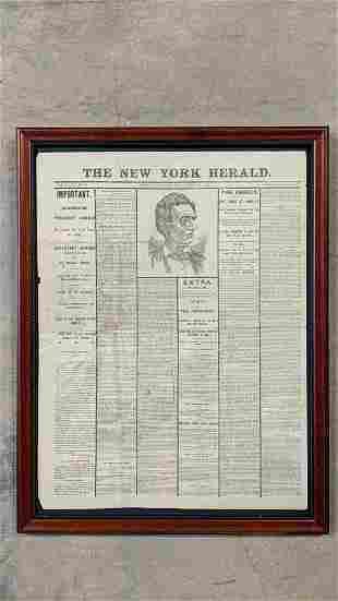 New York Herald Late 1800's facsimilie Civil War