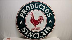 Productos Sinclair Double sided porcelain sign