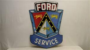 Ford double sided porcelain sign