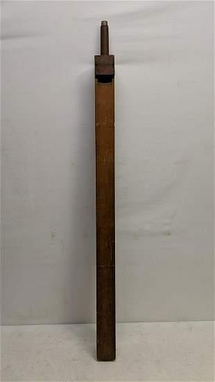 Antique wooden organ tube