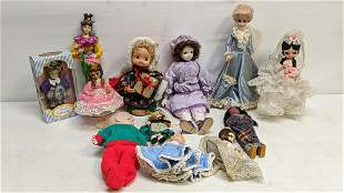 Lot of misc. sizes, ages and styles dolls