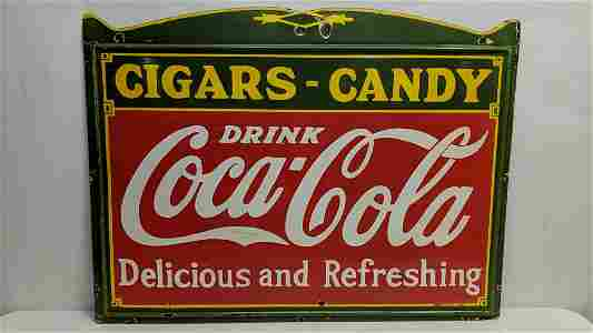 Porcelain Coca Cola single sided sign