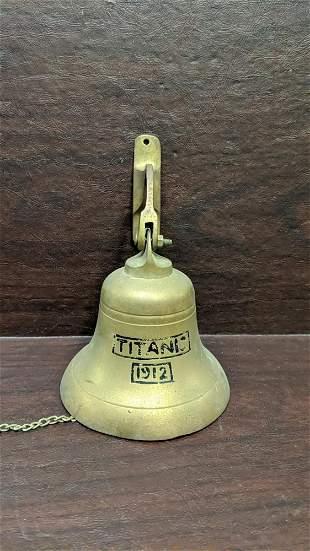 Replica Titantic brass dinner bell